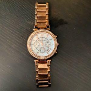 Michael Kors Rose gold watch 6 in. Circumference